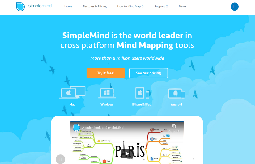 SimpleMind creative mobile apps