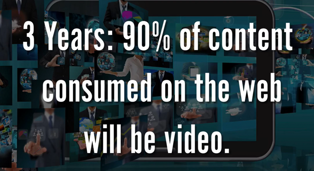 90% of content on the web will be video.