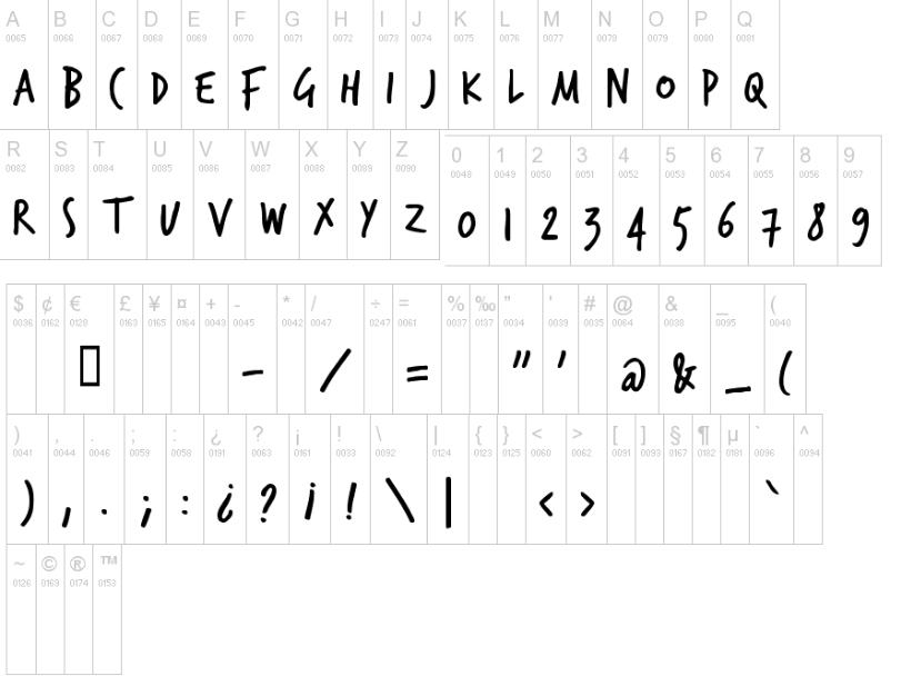 TrashHand handwriting fonts