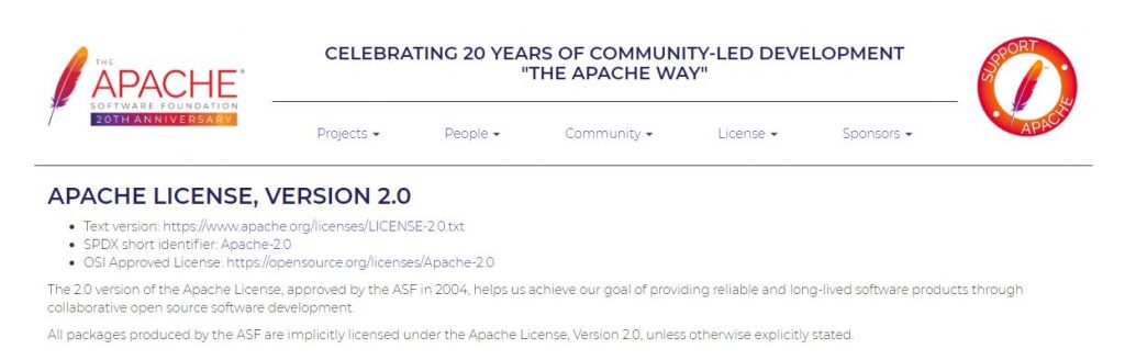 Apache - Open Source License