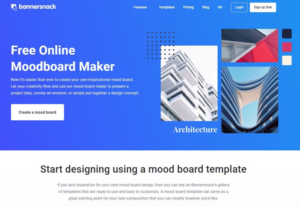 bannersnack mood board maker