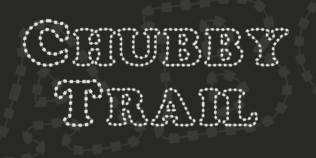 Chubby trail stitch fonts