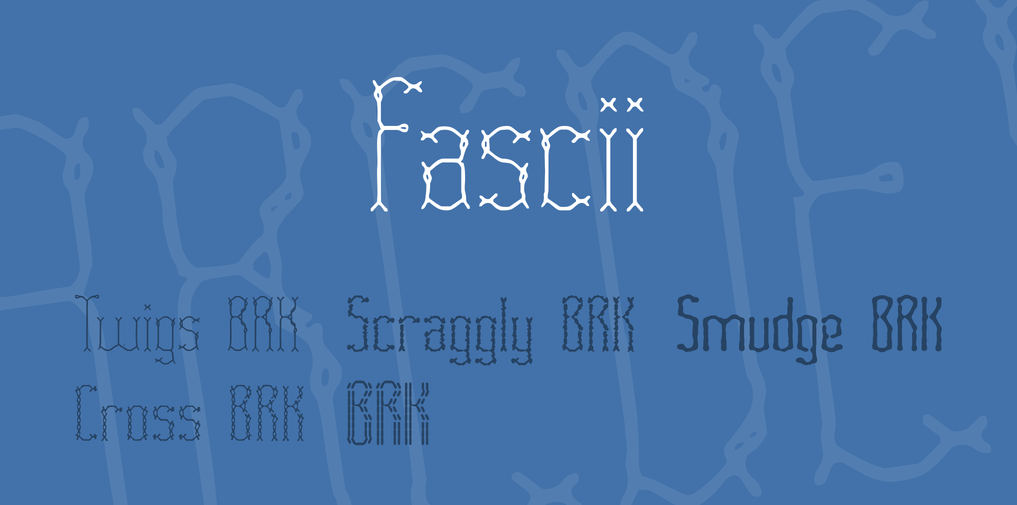 Fascii stitch fonts