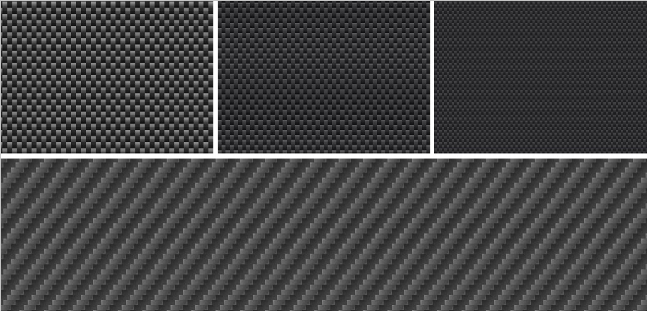 Free carbon fiber Photoshop patterns (Carbon Fiber Textures)
