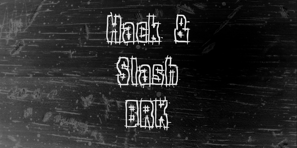 Hack & Slash stitch fonts