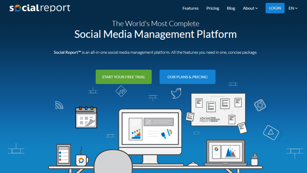 Social Report Hootsuite and Buffer Alternative