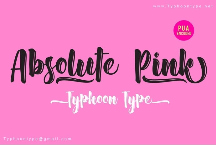Absolute Pink Font min