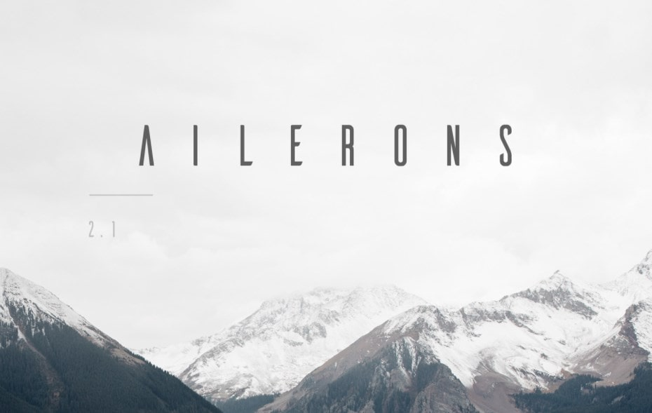 Best Futuristic Fonts Ailerons Typeface