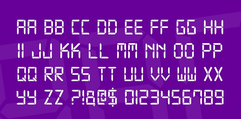 Digital 7 Font Family min