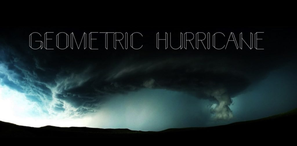 Geometric hurricane New display font min