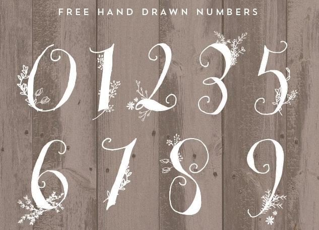 Hand drawn numbers min