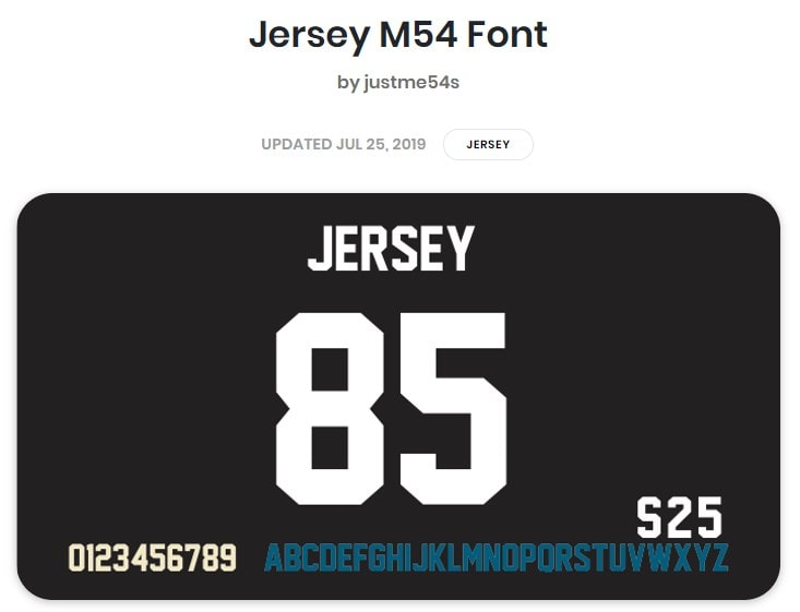 Jersey M54 Font min