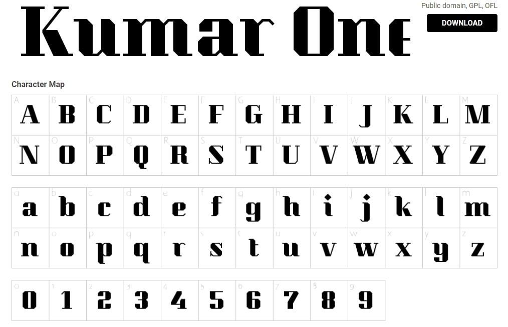 Kumar-One - Best Number Fonts