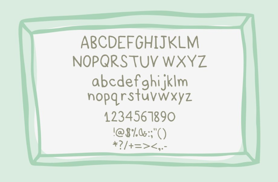 Story a HandDrawn Font just for you