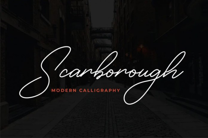 28. Scarborough Tattoo Font – min