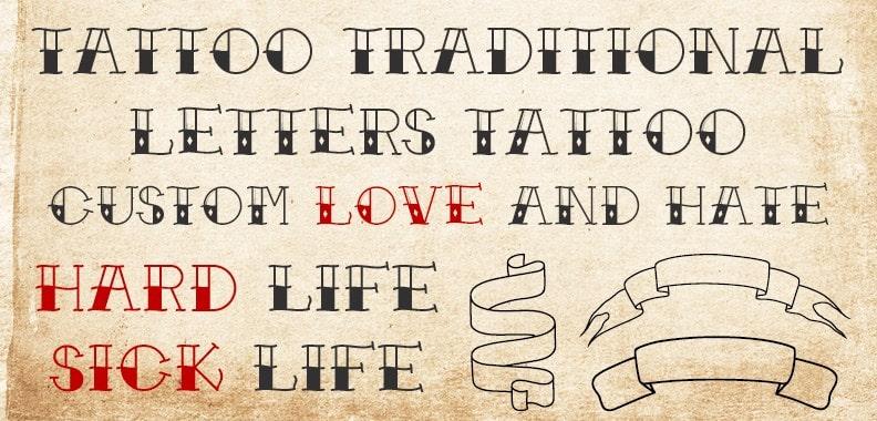 30. American Traditional Tattoo Font – min