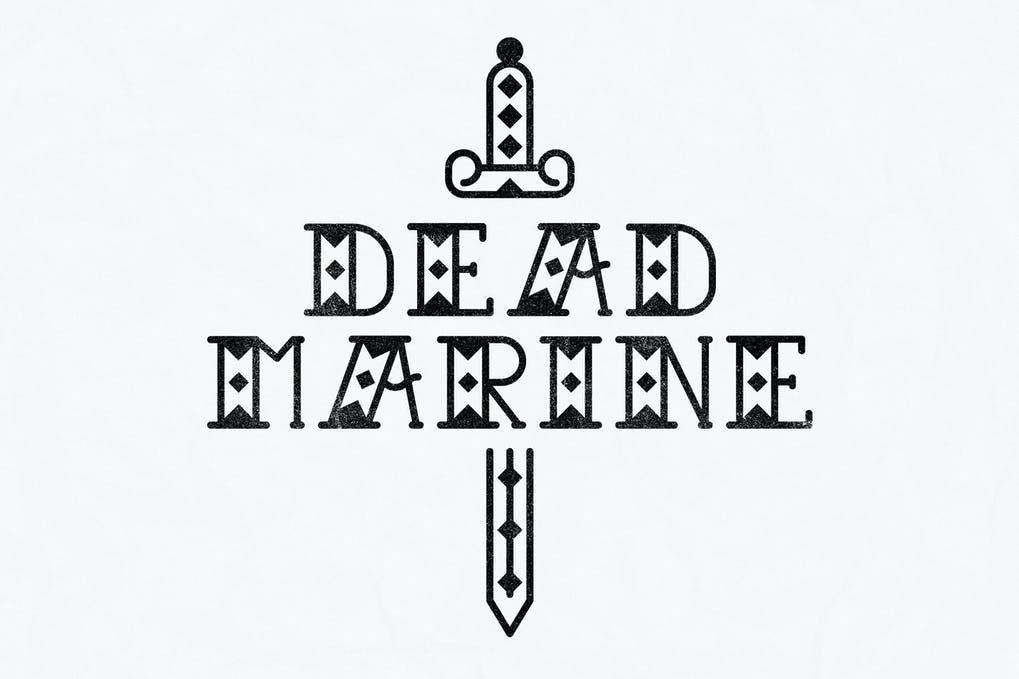 AnyConv.com  21. Dead Marine Tattoo Font –