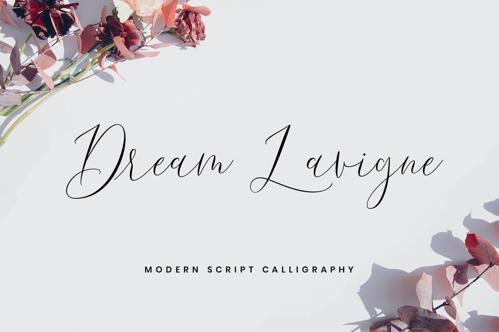 AnyConv.com  35. Dream Lavigne Tattoo Font –