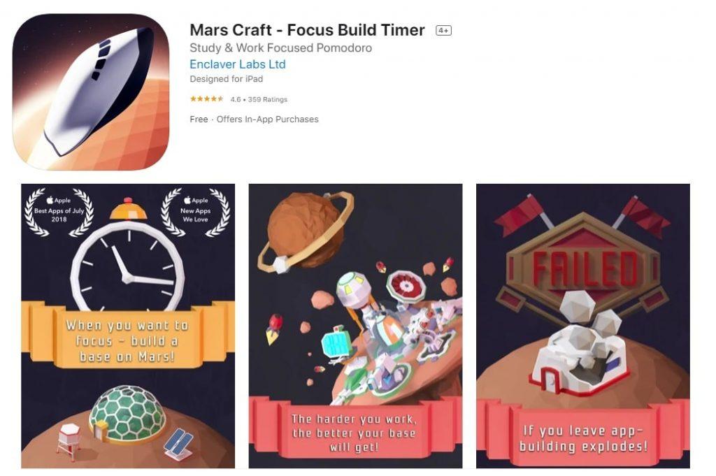 Mars Craft Focus Build Timer min