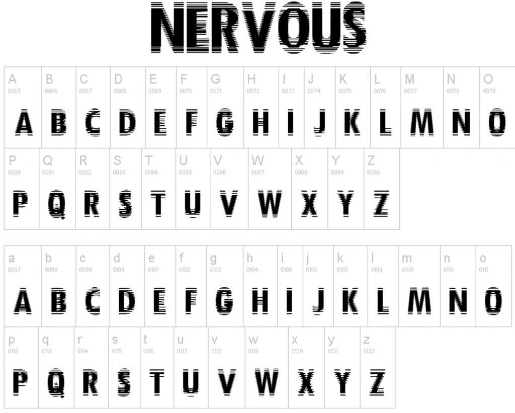 Impressive Distorted Fonts