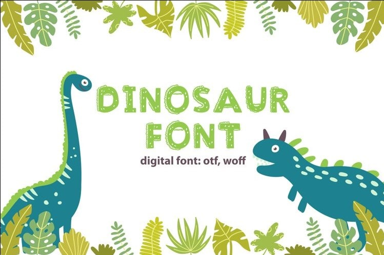 47. Dinosaur Font min
